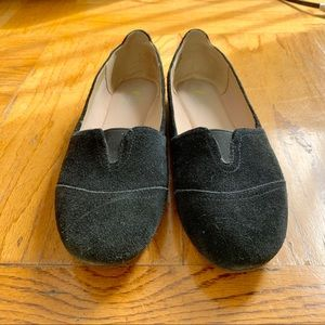 Easy spirit e360 black suede loafers flats